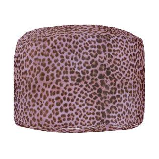 Lavender Leopard Pouf