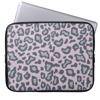 Lavender Leopard Print Laptop Sleeve