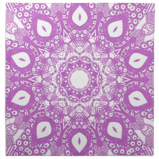 Lavender Light Purple Kaleidoscope Mandala Napkins