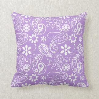 Lavender, Light Purple Paisley Pillows