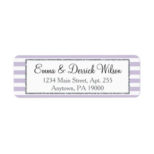 Lavender Lilac Grey Return Address Labels Shower