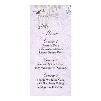 Lavender Lilac vintage birdcage birds wedding Rack Card