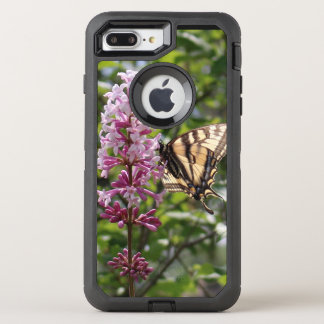 lavender Lilac with tiger butterfly OtterBox Defender iPhone 7 Plus Case