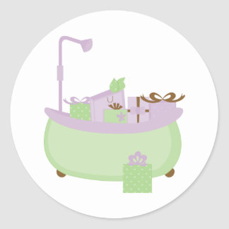 Lavender & Lime Tub Stickers