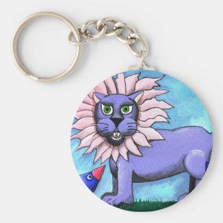 Lavender Lion Keychain