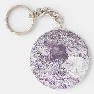 Lavender Lions Keychain
