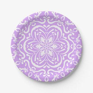 Lavender Mandala 7 Inch Paper Plate
