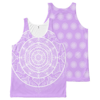 Lavender Mandala All-Over-Print Tank Top
