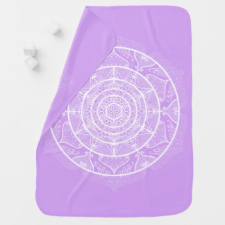 Lavender Mandala Baby Blanket