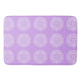 Lavender Mandala Bath Mat
