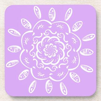 Lavender Mandala Coaster
