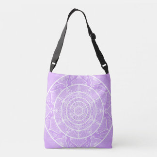 Lavender Mandala Crossbody Bag