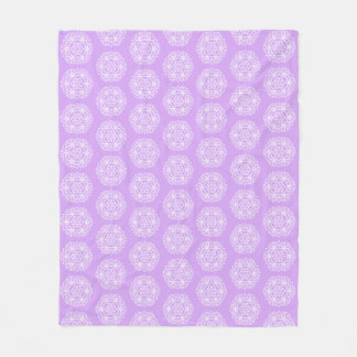 Lavender Mandala Fleece Blanket