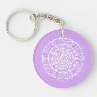 Lavender Mandala Keychain