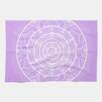 Lavender Mandala Kitchen Towel