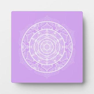 Lavender Mandala Plaque