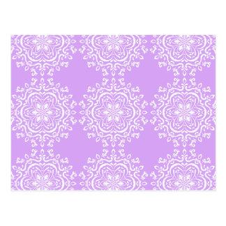 Lavender Mandala Postcard