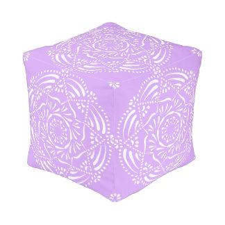 Lavender Mandala Pouf