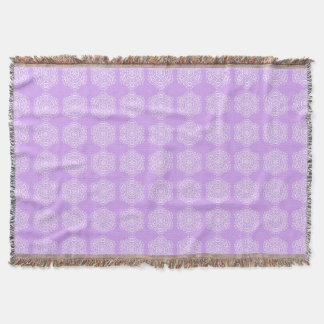 Lavender Mandala Throw Blanket