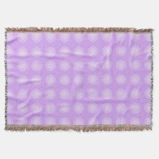Lavender Mandala Throw Blanket