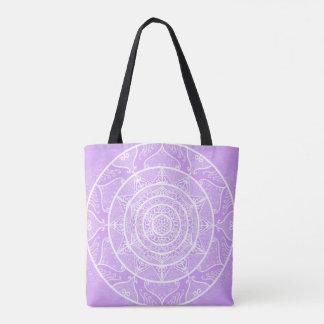 Lavender Mandala Tote Bag