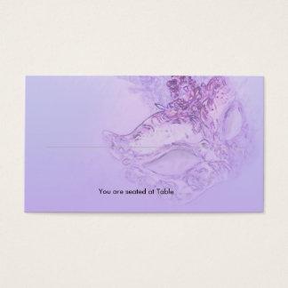 Lavender Masquerade Place Card