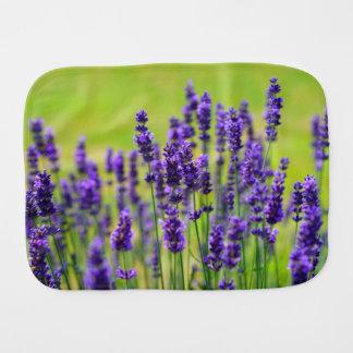 Lavender Meadow Baby Burp Cloth