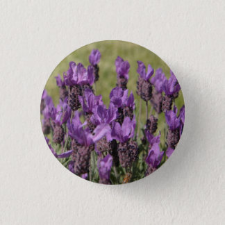 Lavender Meadow Flowers 1 Inch Round Button