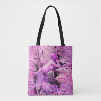 Lavender Mermaid Tote Bag