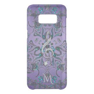 Lavender Metallic Monogram Mandala Music Clef Uncommon Samsung Galaxy S8 Case