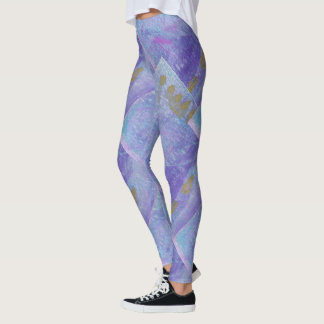 Lavender Mist Abstract Leggings