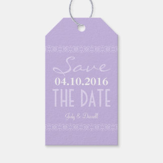 Lavender Modern Save The Date Wedding Favor Tags