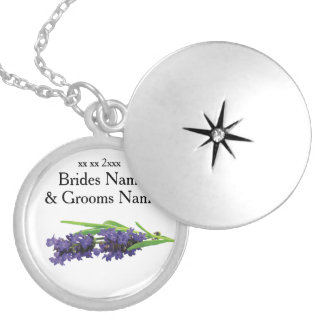 Lavender Modern Simple Elegant Wedding Ideas Silver Plated Necklace