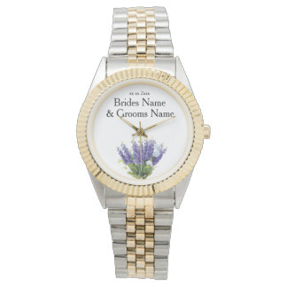 Lavender Modern Simple Elegant WeddingIdeas Watch