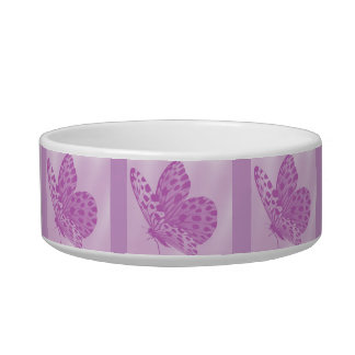 Lavender Monarch Butterfly Cat Bowl