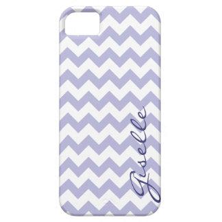 Lavender Monogram Chevron Zigzag Pattern iPhone iPhone 5 Cases