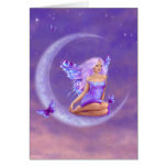 Lavender Moon Butterfly Fairy Greeting Cards
