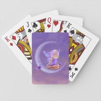 Lavender Moon Butterfly Fairy Playing Cards