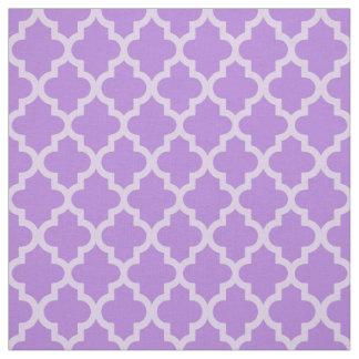 Lavender Moroccan Moods Quatrefoil Fabric