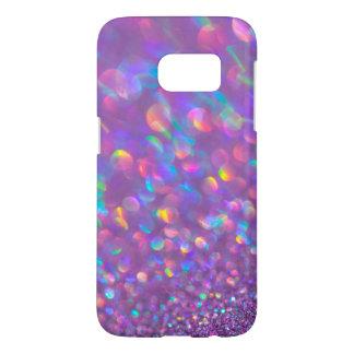 Lavender Opal Bokeh Pink Blue Gemstone Samsung Galaxy S7 Case