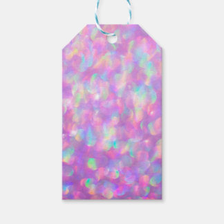 Lavender Opal Bokeh Pink Blue Gemstone tags Pack Of Gift Tags