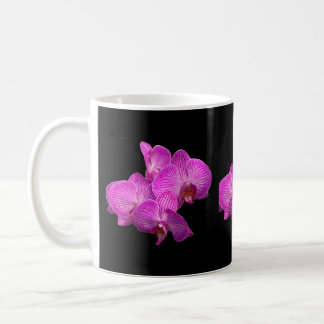 Lavender orchids coffee mug