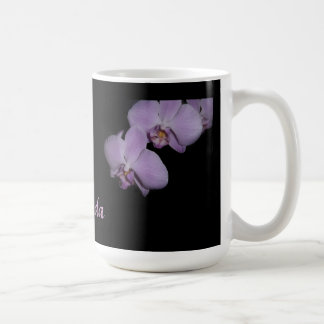 Lavender orchids personalized Mug