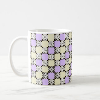 Lavender, Pale Yellow, and Abstract Rosette Mug