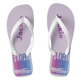Lavender Personalized Pontoon Boat Flip Flops