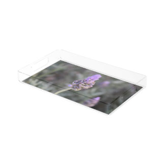 Lavender Photograph Soft and Pretty Acrylic Tray