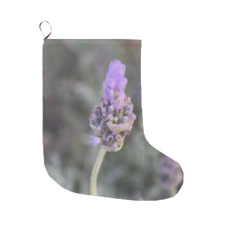 Lavender Photograph Soft and Pretty Large Christmas Stocking