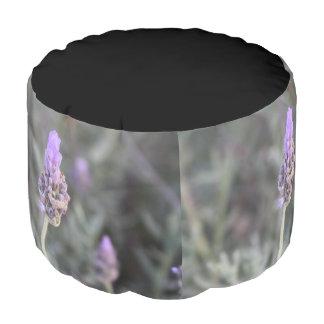 Lavender Photograph Soft and Pretty Pouf