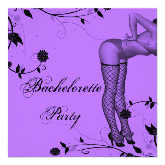 Lavender Pin Up Bachelorette Party Card