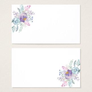 Lavender Pink Blue Watercolor Flowers Place Cards